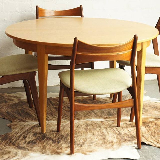 Restored Ready For Delivery Just Finished Work On A Smart Set Of Erik Buch Teak Dining Chairs In Ne Teak Dining Chairs Dining Room Design Mid Century Dining