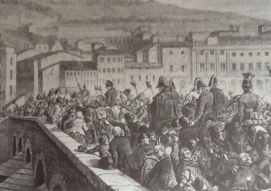 Les cent jours , l'entrée dans Lyon