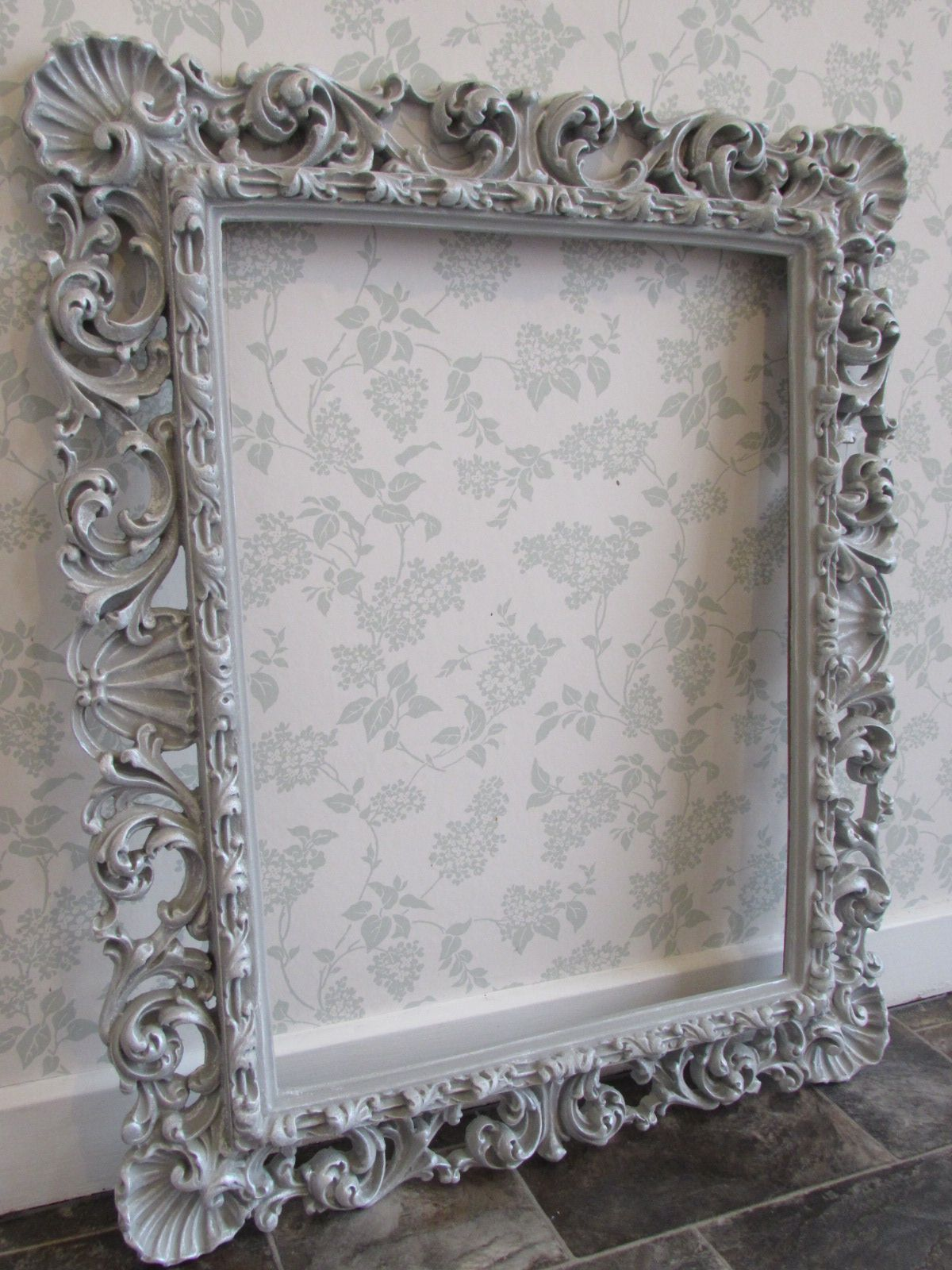 Paris Grey And Silver Wax Frame Distressed Picture Frames Vintage Picture Frames Basket Wall
