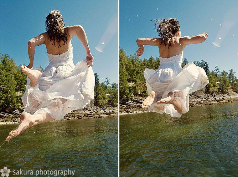 trashing the wedding dress