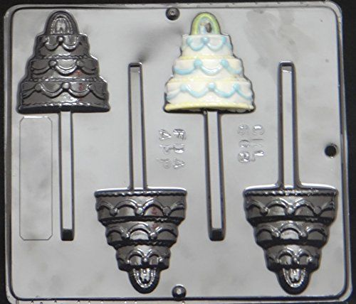 Wedding Cake Lollipop Chocolate Candy Mold Shower 668