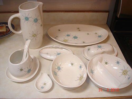 104 pc Franciscan Starburst China Dinnerware Service for 8 + serving pcs & 104 pc 1950u0027s Franciscan Starburst China Dinnerware Service for 8 + ...