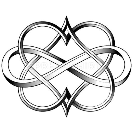 Double Heart Infinity Tattoo Men's Premium T-Shirt | Spreadshirt