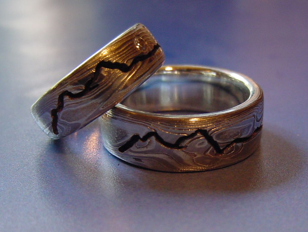 Wedding Ring Mountain Ocean Landscapes Rings In 2019
