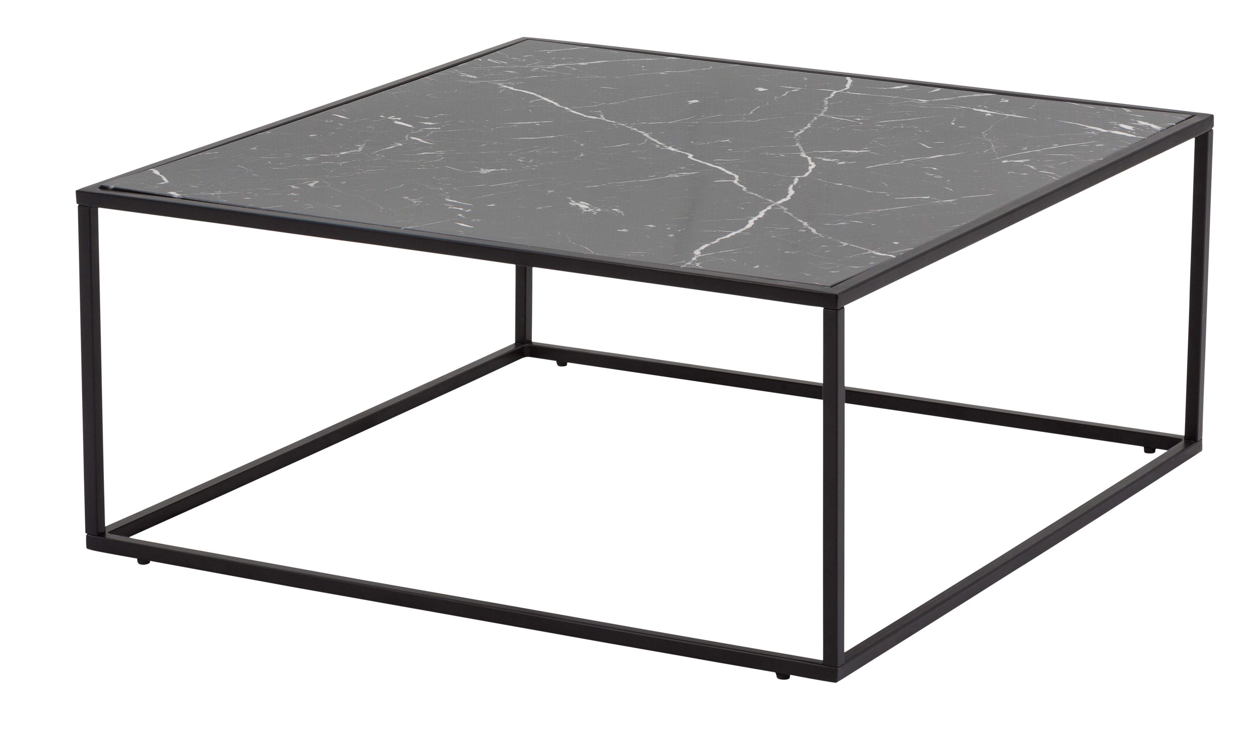 Table basse BAU Noir Effet marbre