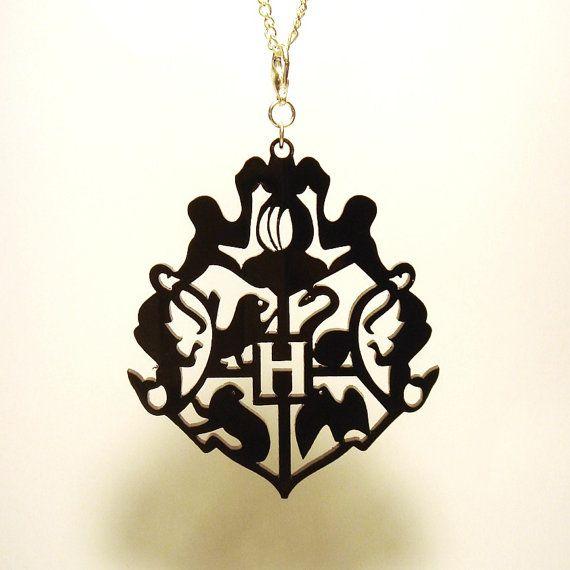 Hogwarts Crest from Harry Potter- Pendant, Keyring, or Zipper Pull - Laser Cut Acrylic