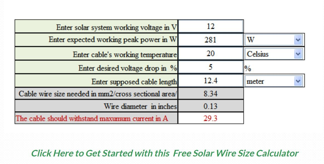 Free solar cable size calculator calculator solar and solar power free solar cable size calculator solar panel secrets exposed greentooth Gallery