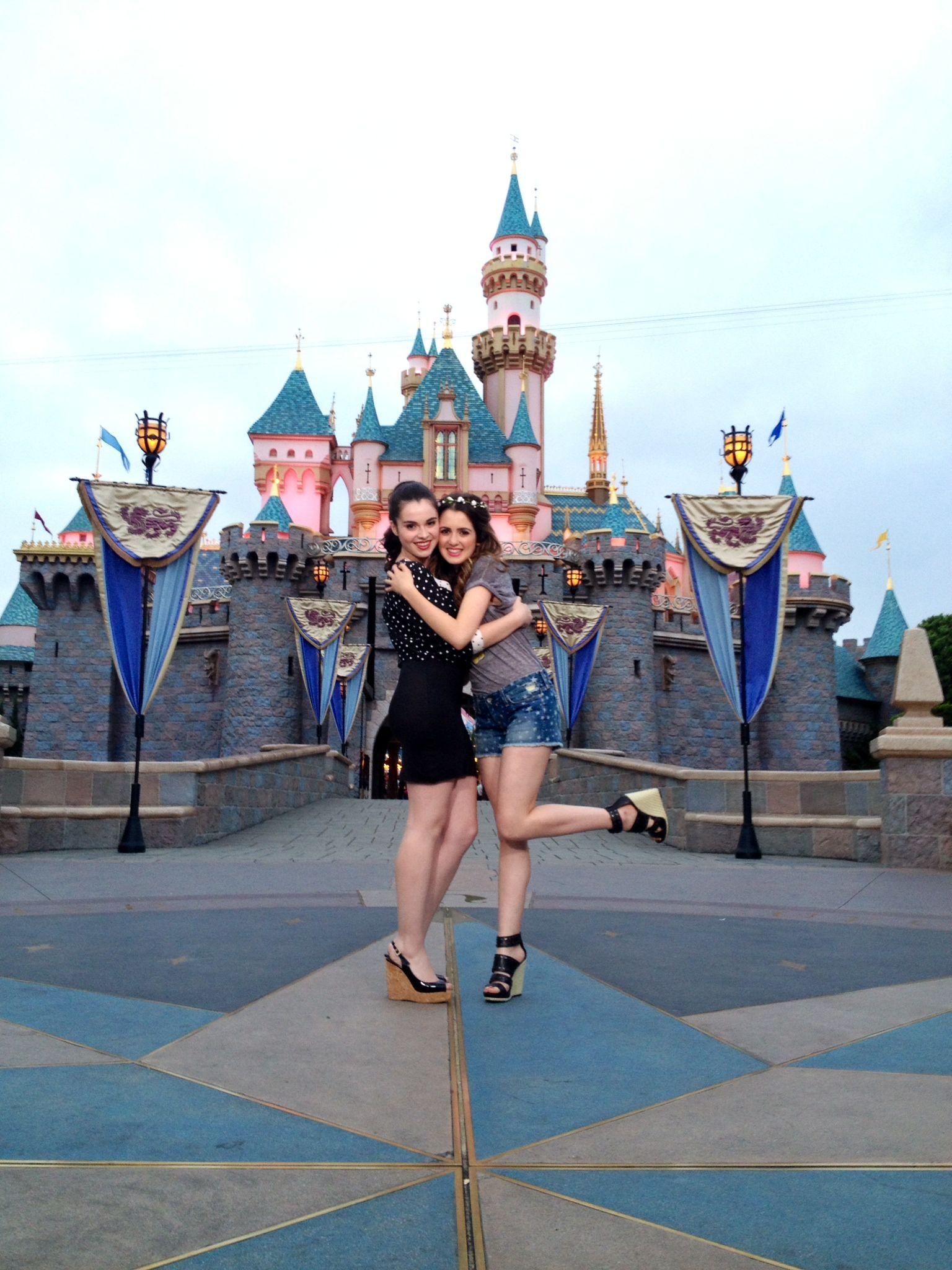Vanessa Marano and her sister rocked their #DisneySide at #Disneyland this weekend!