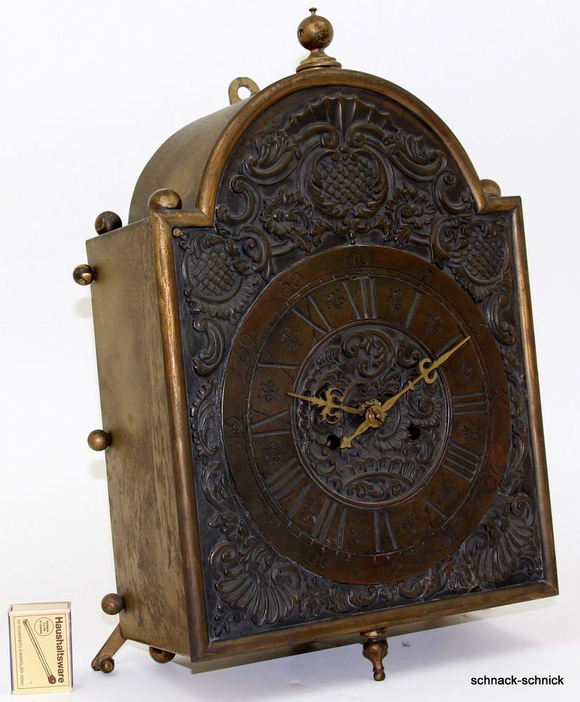 Antik Wand Uhr Barock Stil Pendeluhr Messing Pfeilkreuz Marke Auf Federwerk Pendeluhr Barock Stil Uhr