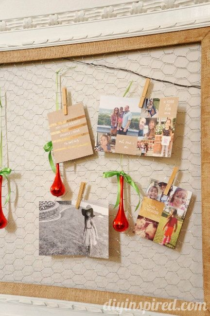 DIY Christmas Card Display Card displays, Chicken wire and DIY