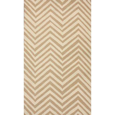 "Langley Street Jessica Cream / Sand Chevron Area Rug Rug Size: 7'6"" x 9'6"""