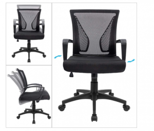 b8a5e2f3c Furmax Office Chair Mid Back Swivel Lumbar Support Desk Chair ...