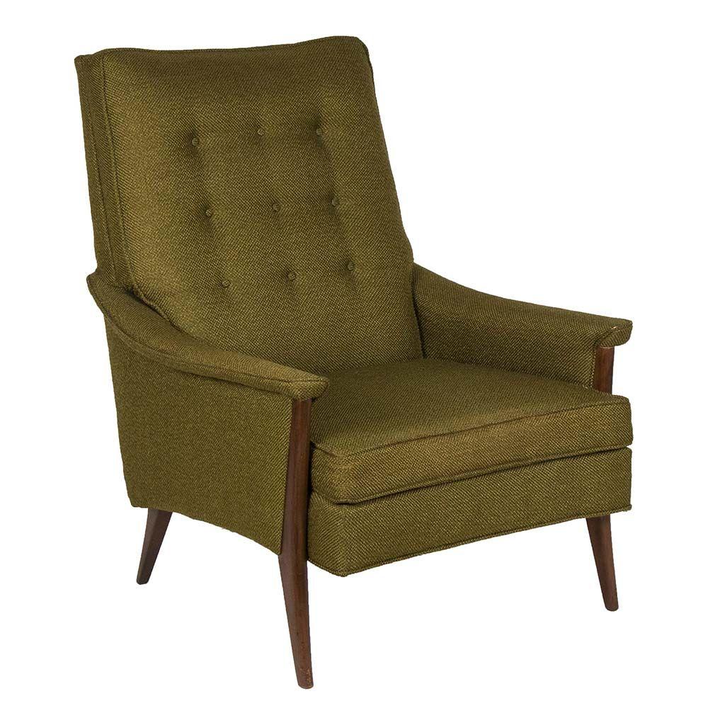 Kroehler Accent Chair Elan Key Pattern: A Danish Modern Piece From Kroehler's Vintage €�Signature