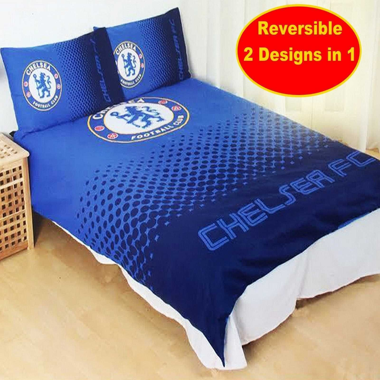 Boys Double Quilt Cover Chelsea Football Club Fade Double Duvet Quilt Cover Set Boys