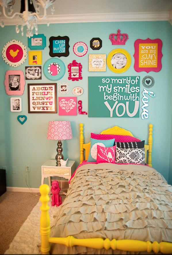 Custom framed in girl\'s room. | Custom Framed Kids - FastFrame of ...