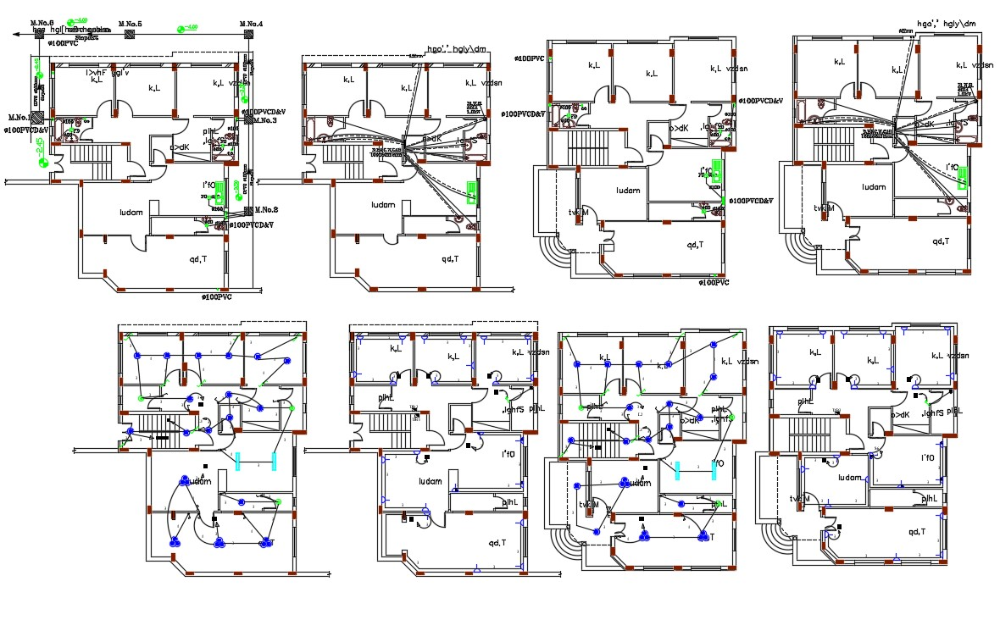 44 X 52 House Plumbing And Electrical Layout Plan Dwg File Electrical Layout Ground Floor Plan Layout