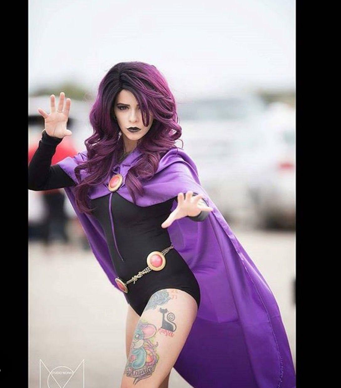 Sexy Raven Cosplay Costume Teen Titans  Teen Titans -9629