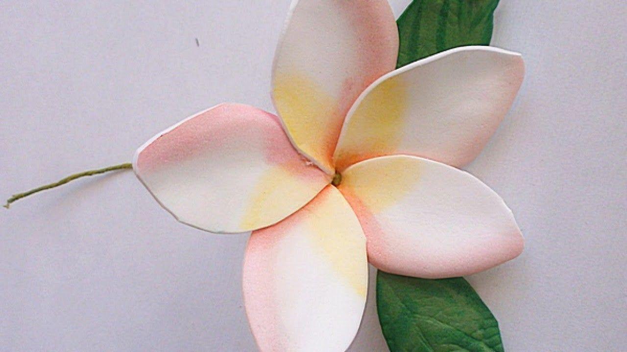 Make A Foam Paper Gentle Plumeria Flower Diy Crafts Guidecentral