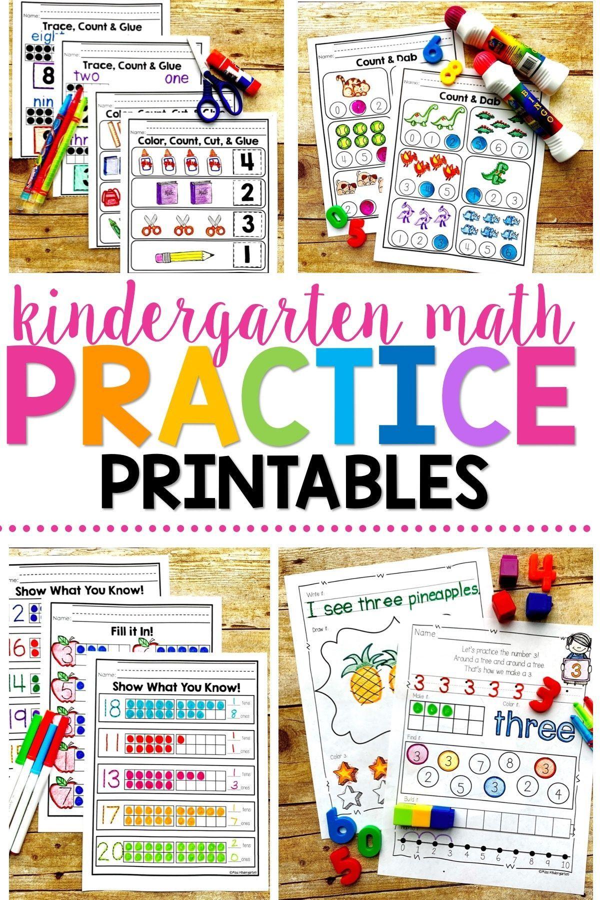 Number Practice Printables Bundle Pack