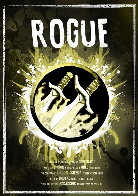 d5051ccfbbf9 World of Warcraft: Rogue Class Symbol print/poster by SodaArcade ...