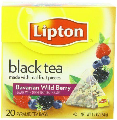 Black Friday Lipton Black Tea, Bavarian Wild Berry, Premium Pyramid Tea Bags, 20 Count Box from Lipton