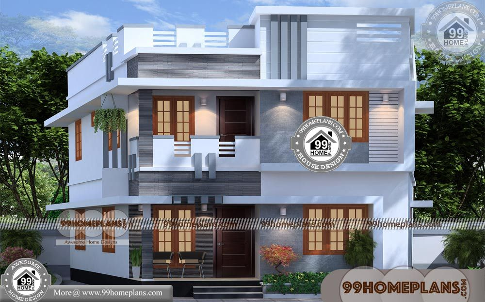 Modern Style House With Two Storey House Design With Floor Plan With Elevation Having 2 Floor House Arch Design Bungalow House Design Home Design Floor Plans