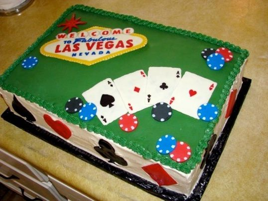 vegas theme cake Party Time Casino Theme 30th Birthday Party