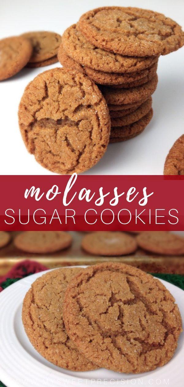 Molasses Sugar Cookies   My Sweet Precision #cinnamonsugarcookies
