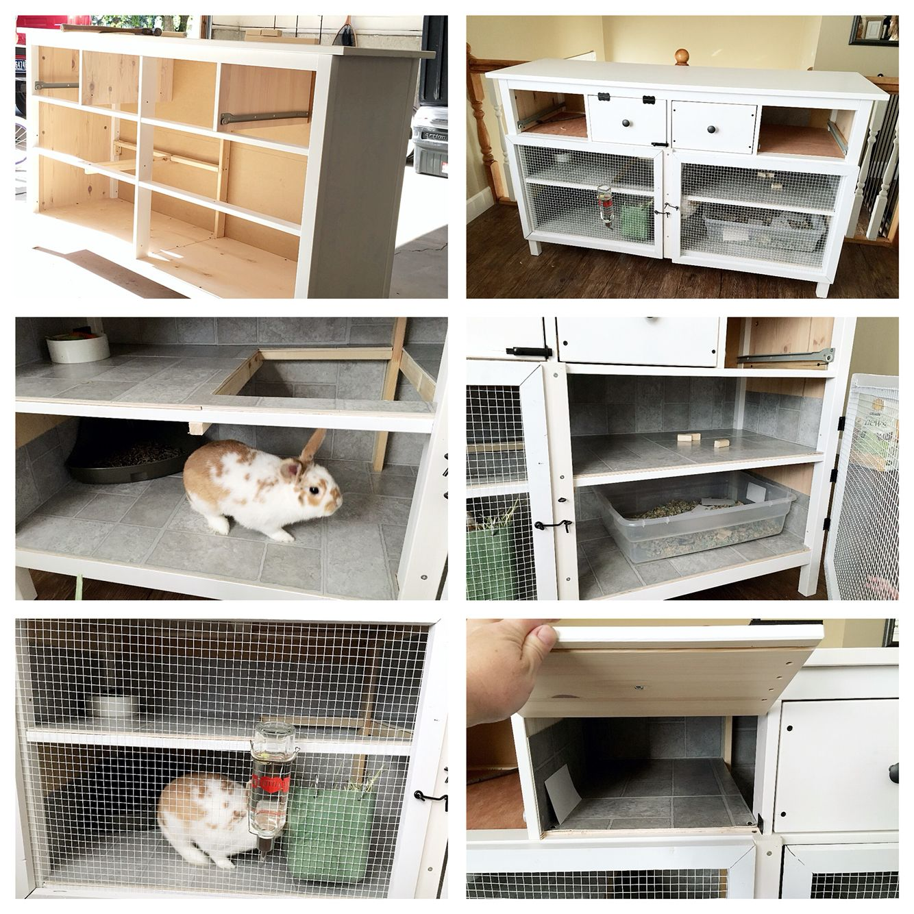 Rabbit hutch from IKEA dresser, three levels with two drawers left ...