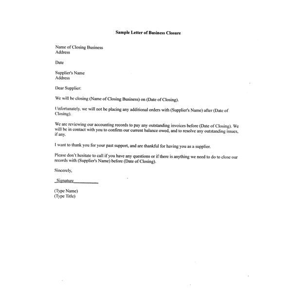 business letter closing examples via partnership termination - pay advice template