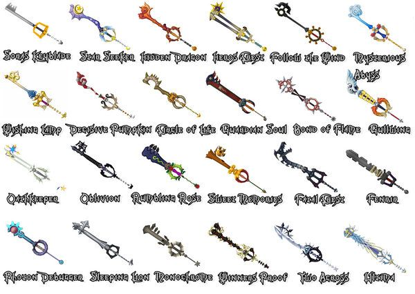 List Of Keyblades From Kingdom Hearts 2 My Top Favorite Of The