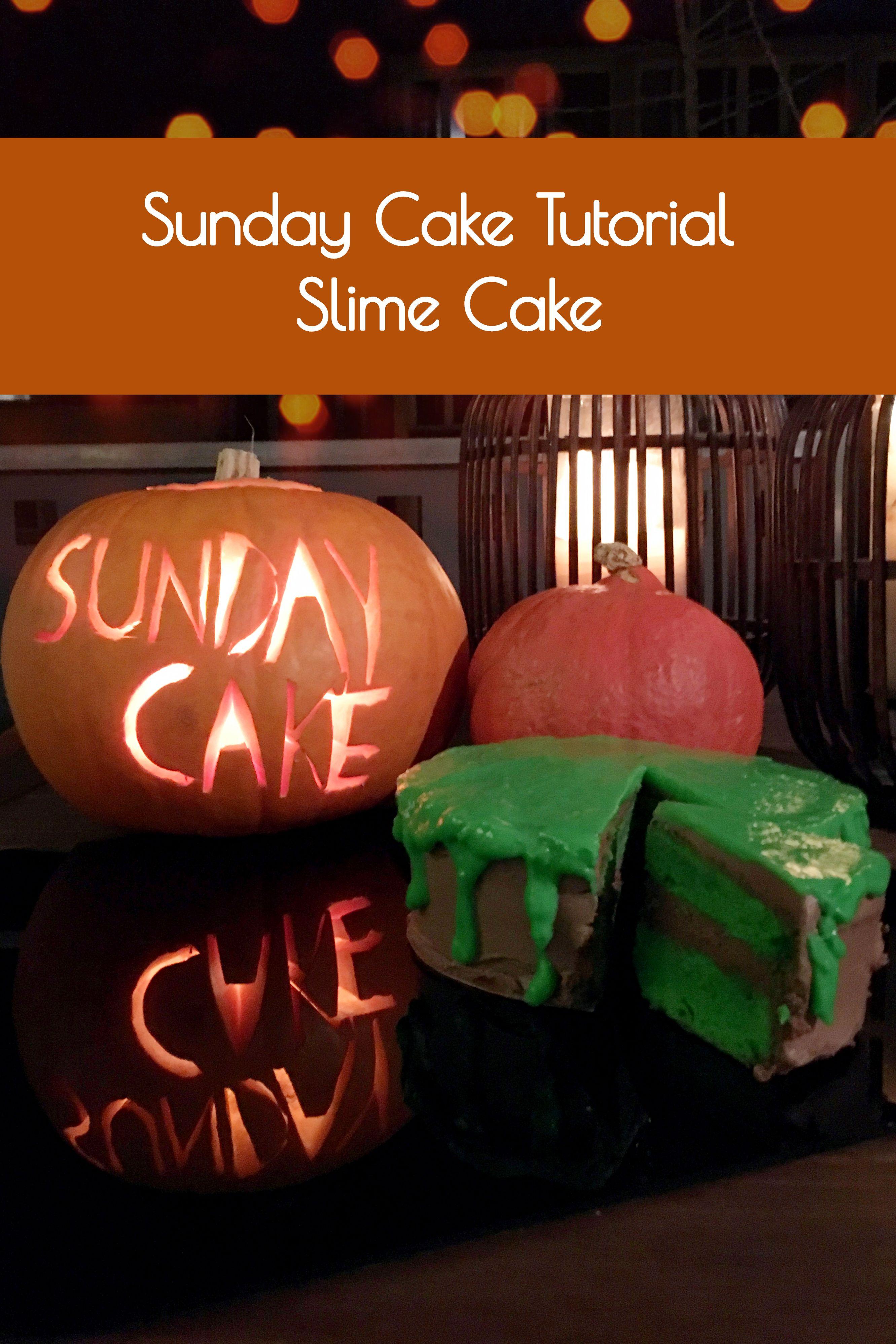 Rezept für Slime Cake Rezept Halloween kuchen, Happy