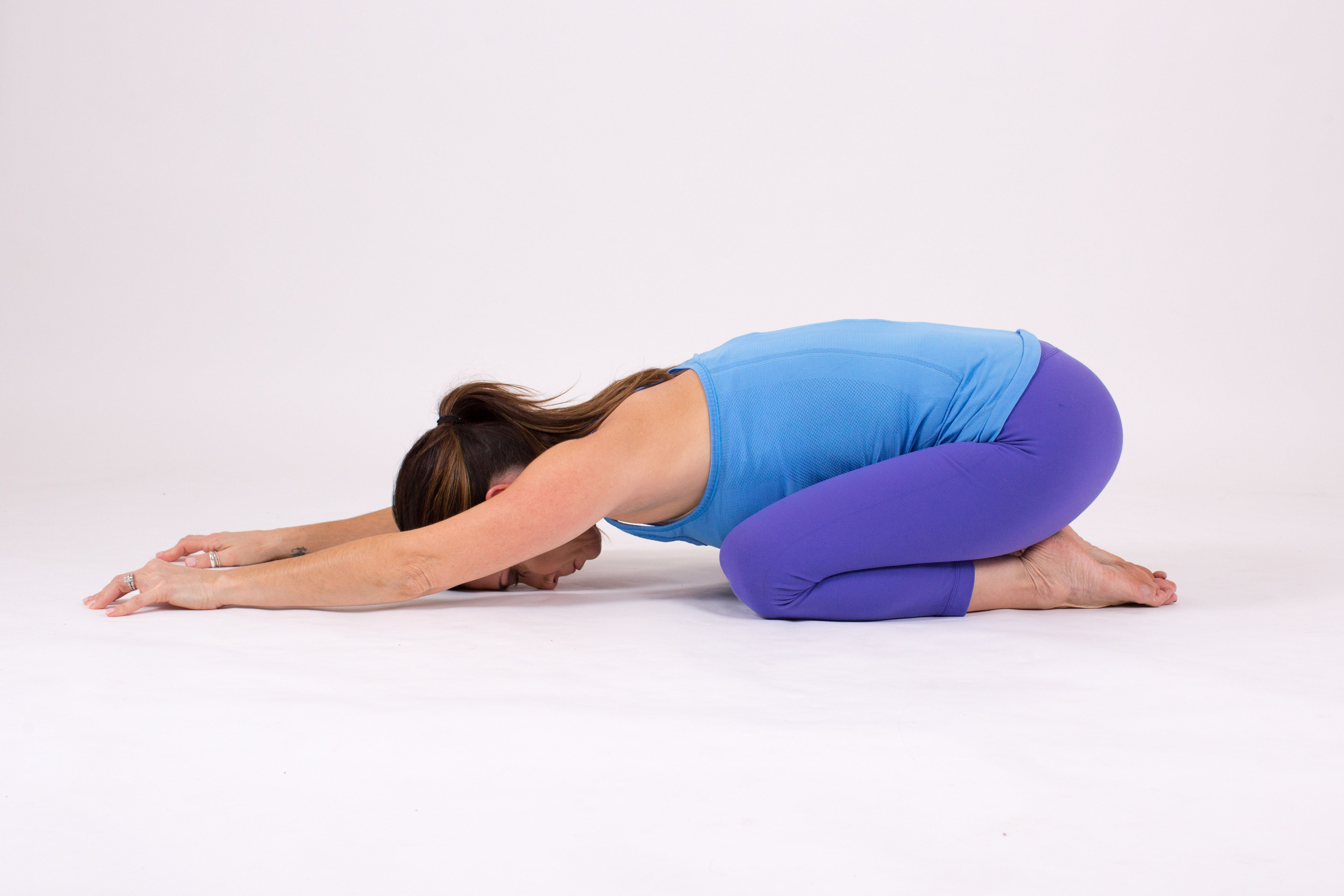 Extended Child S Pose Kid Poses Poses Therapeutic Yoga
