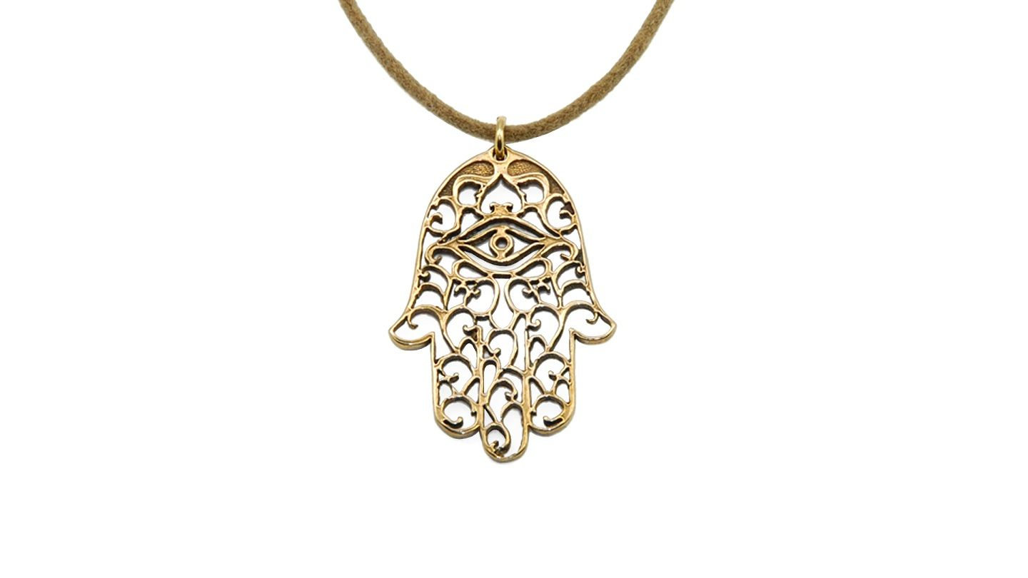 Small hamsa necklace open hands symbols and peace peace biocorpaavc