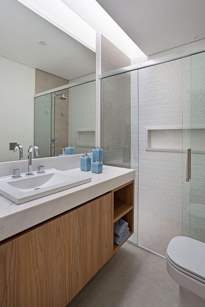 Tons Neutros E Luz Natural Com Imagens Banheiros Modernos