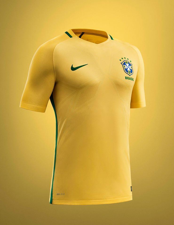 ec9127371e082 Todos os detalhes da nova camisa da   SeleçãoBrasileira ! Neymar Jr. 2016