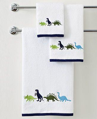 Kassatex Bath Accessories Dino Park 28 X 50 Bath Towel On