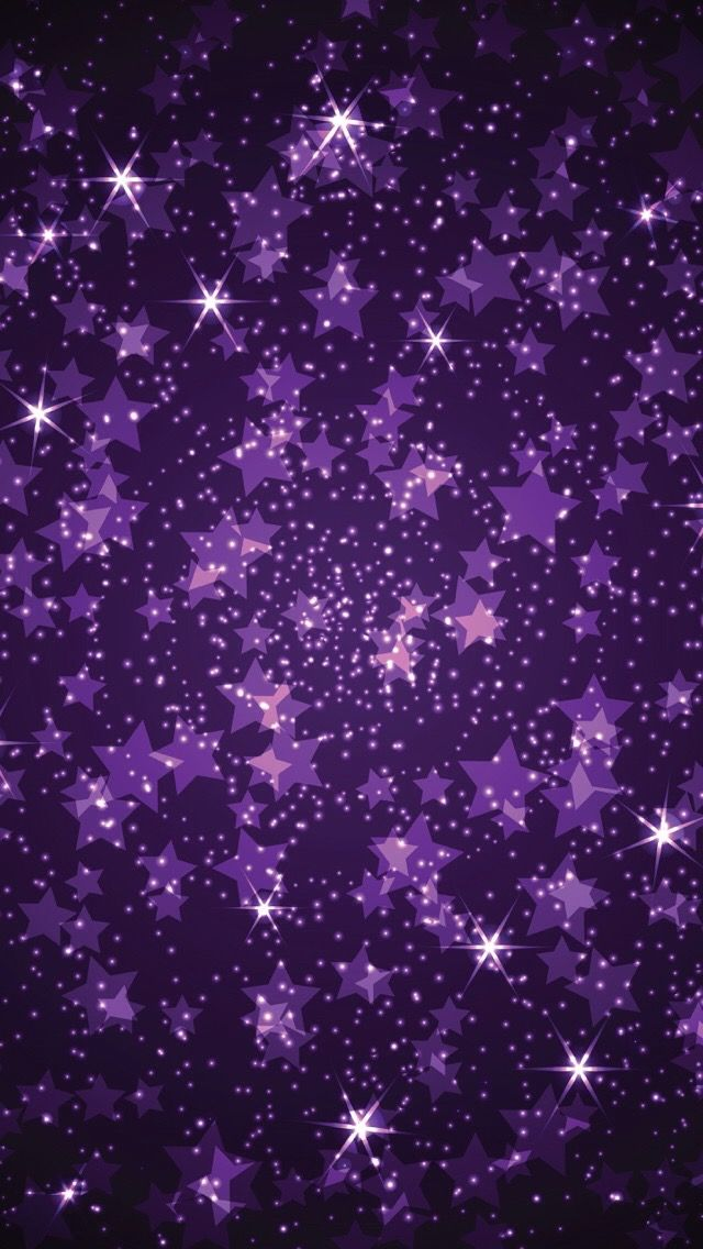 Glitter Stars Purple Sparkle Wallpaper Iphone Se Wallpapers Sparkles Backgrounds Bright