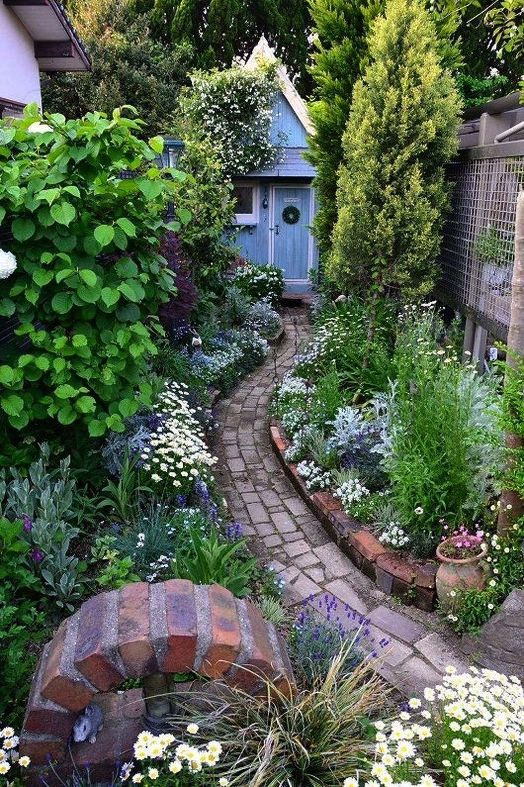 garden walkways 95 Beautiful Small Cottage Flowers Garden for Backyard Ideas  Planting fertilizing watering regularly until summer flowers bloom they require extensive ca...
