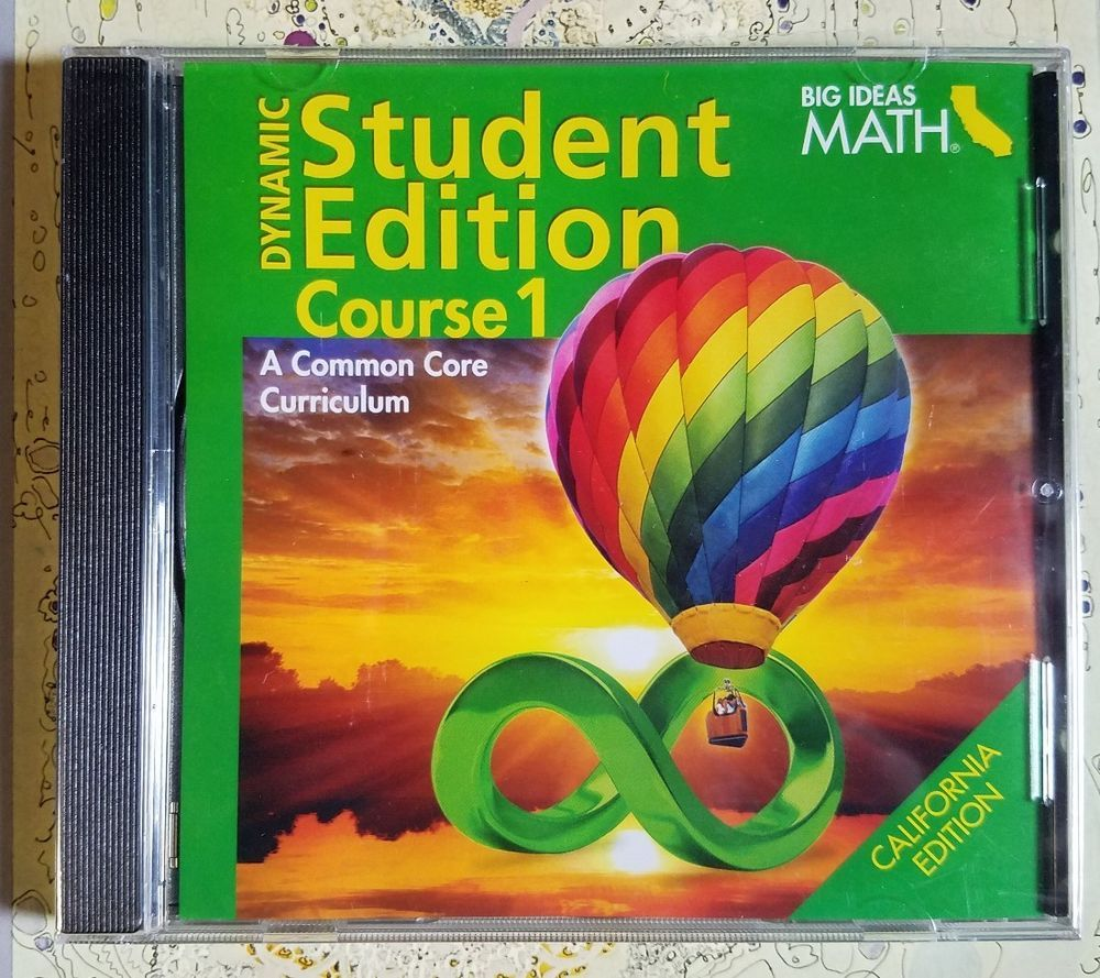 big ideas math course 1 dynamic student edition cd-rom common core