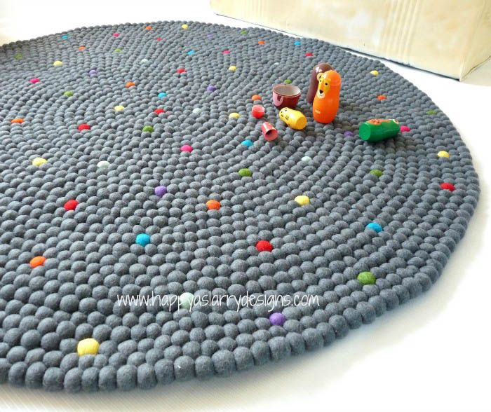 Hy As Larry Felt Floor Rugs Pixel Confetti Rug