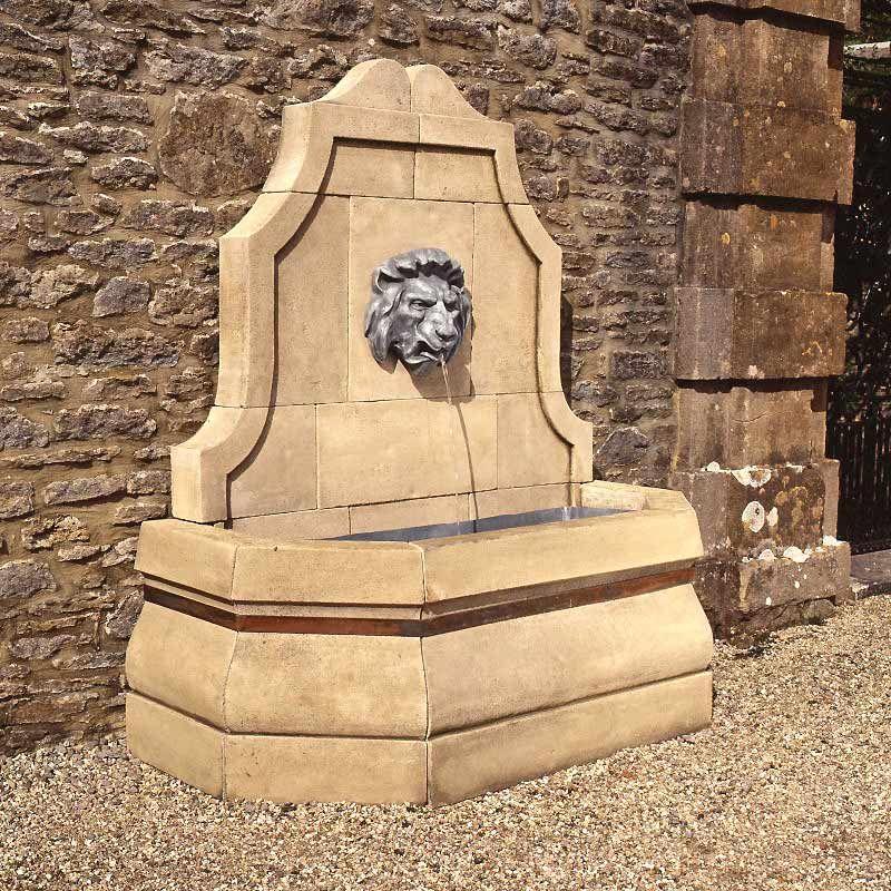 Stone lion head wall fountain | gardens | Pinterest | Wall fountains ...