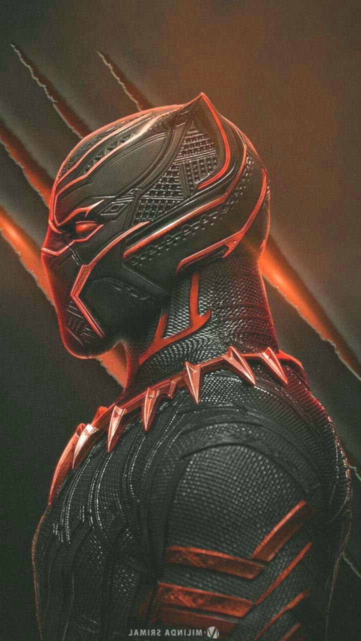 Black Panther In Red Black Panther Red Black Panther Marvel Fotos De Super Herois Wallpaper Super Herois