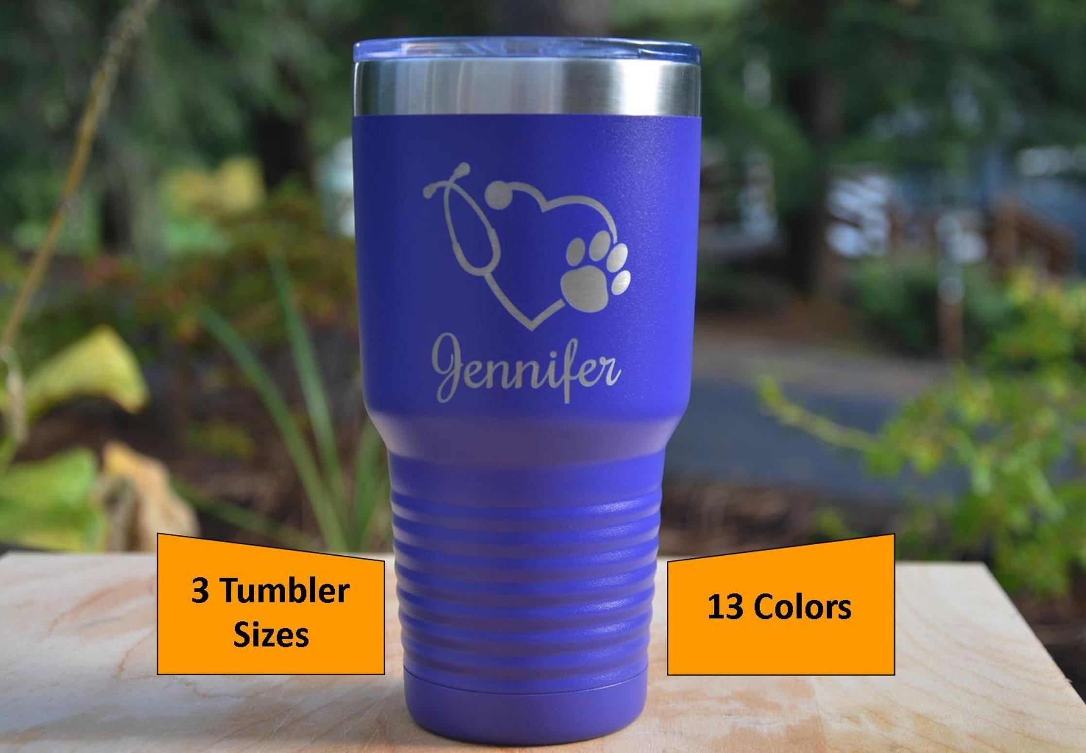 Personalized veterinarian tumbler vet graduation gift