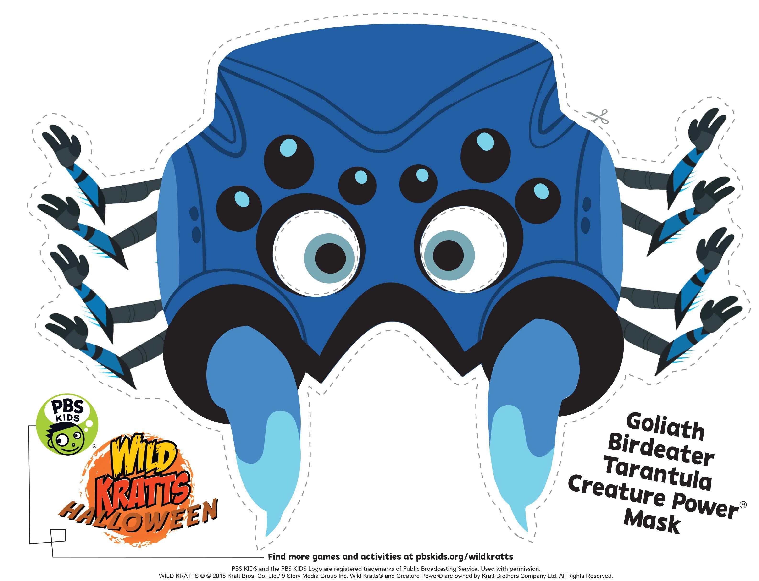 creepy tarantula spider halloween mask from wild kratts! #wildkratts