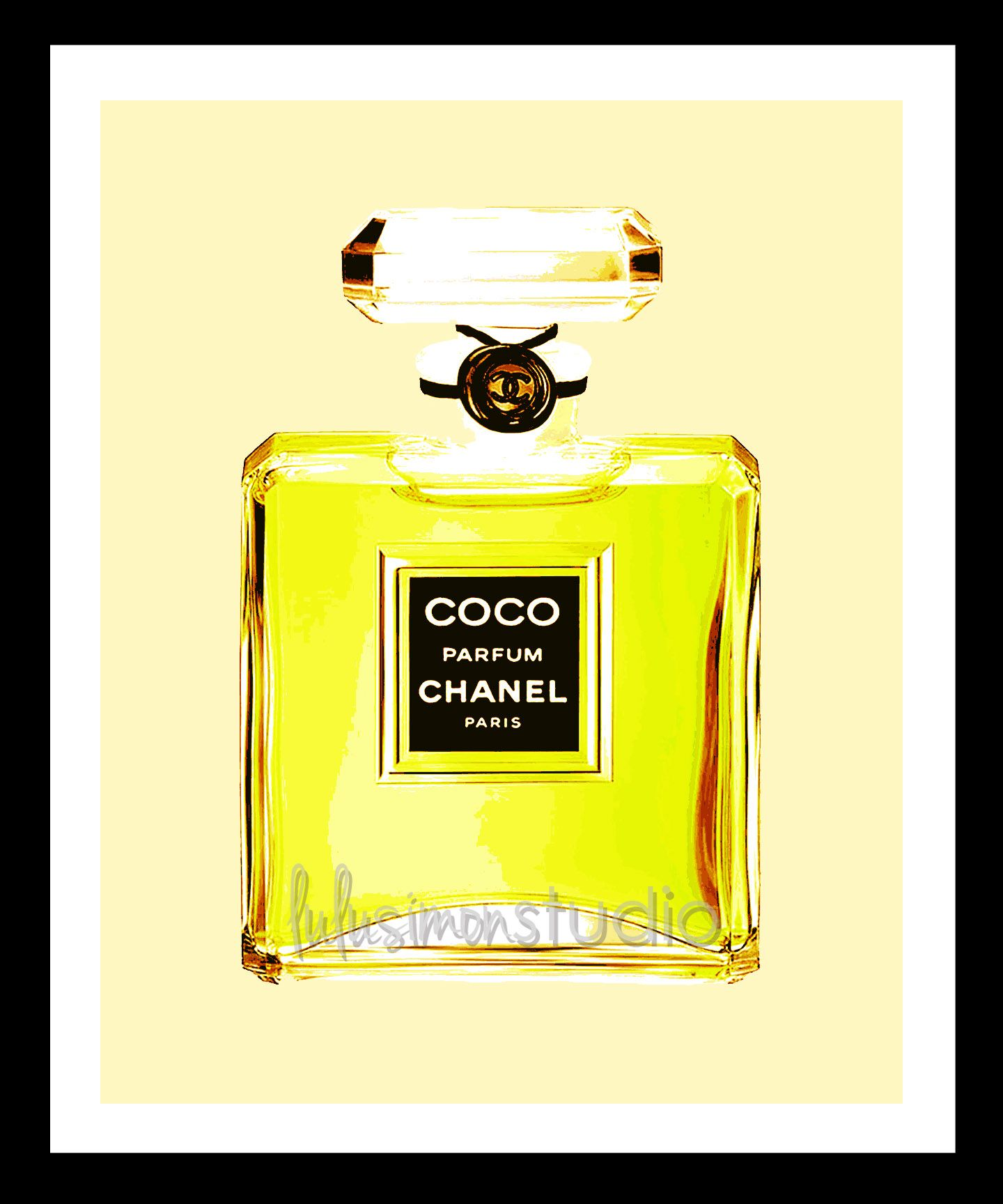 8x10 COCO Chanel Perfume Print by lulusimonstudio on Etsy, $15.00 ...