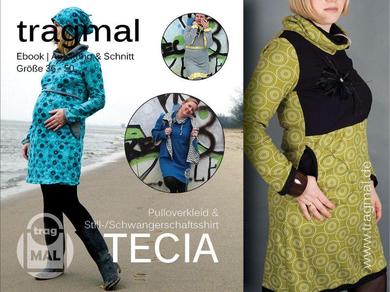 Schnittmuster - Ebook TECIA (Stillshirt/Stillkleid) - Gr. 36-50 ...