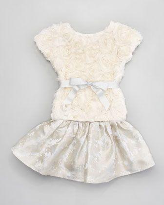Bouquet Top Metallic Ruffle Skirt By Halabaloo At Neiman Marcus