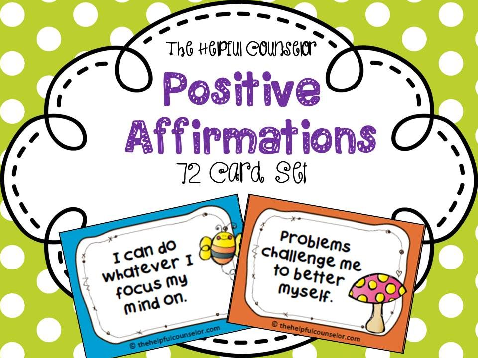 Coping Skills: Positive Affirmations for Children | Schulen