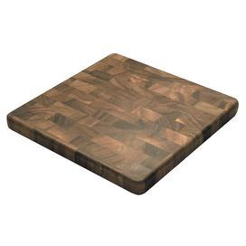 "Artfully crafted of acacia wood, this beautifully grained cutting board doubles as a handsome serving tray for cheese and fruit.  Product: Cutting board    Construction Material: Acacia woodColor: Brown Dimensions: 1.5"" H x 14"" W x 14"" D      Cleaning and Care: Hand washing recommended"